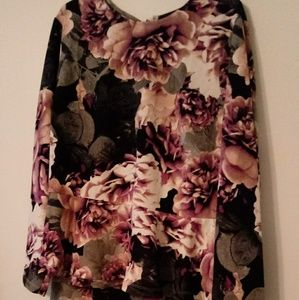 New with Tags Ashro Purple Peblum Skirt & Top